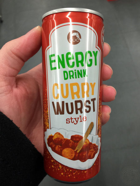 Energydrink Currywurst-Style Dose
